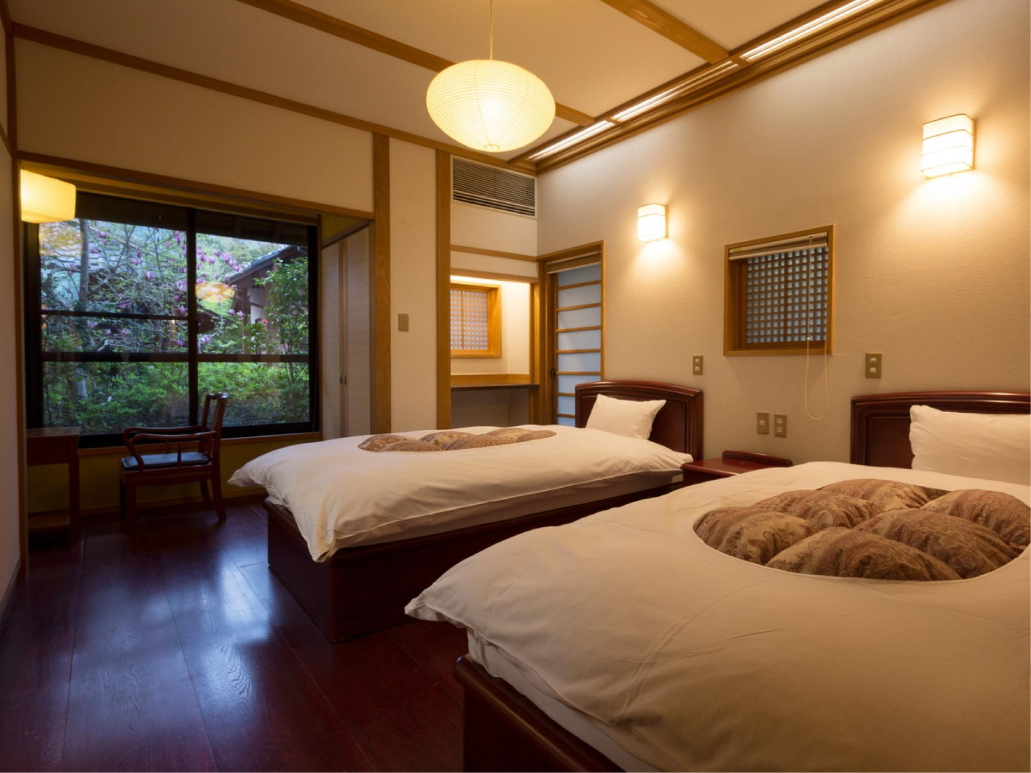 다다미 침대 객실 (Detached Japanese/Western-style Room with Open-air Bath (2 Beds))