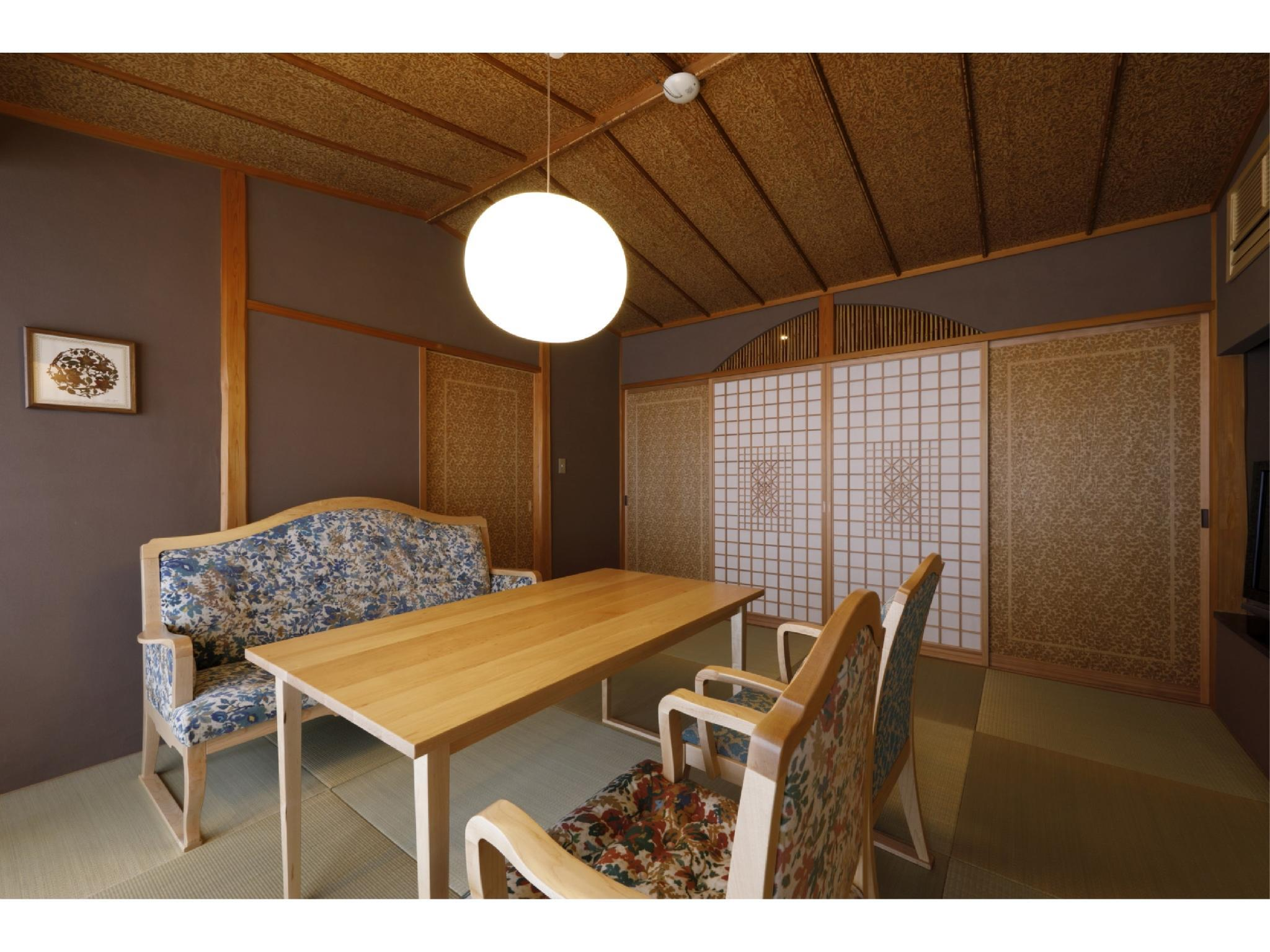 다다미 객실(별채/특별실/노천탕) (Detached Special Japanese-style Room with Open-air Hot Spring Bath)