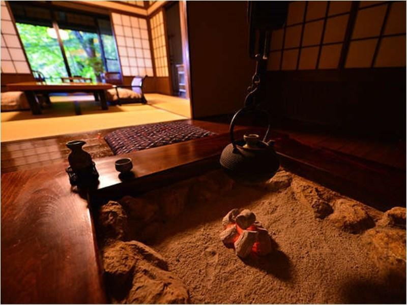 Japanese-style Room with Irori Hearth & Open-air Bath