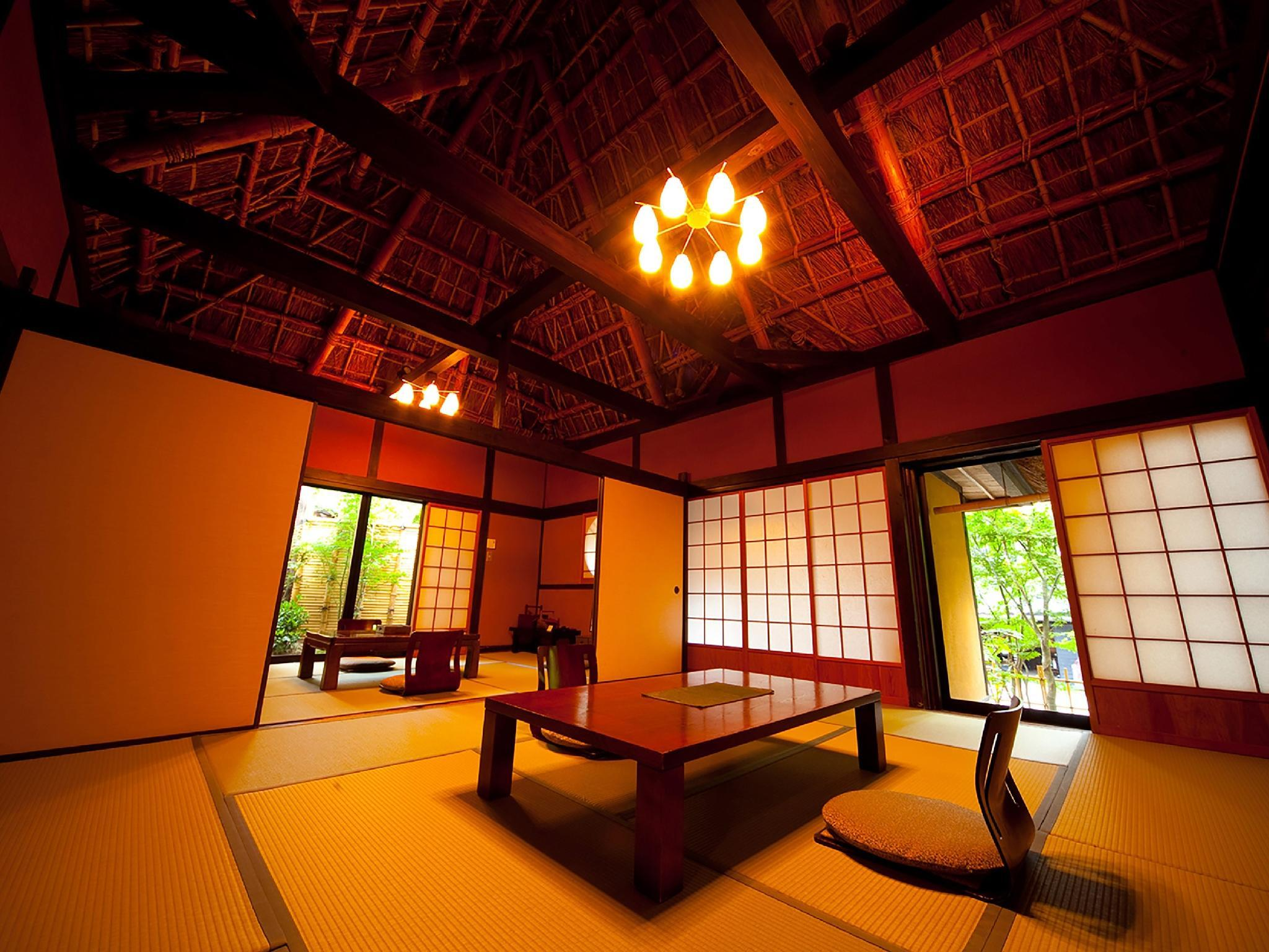布袋之間 獨立房(和式10帖+7.5帖榻榻米+露天風呂) (Detached Japanese-style Room with Open-air Bath (10 tatami + 7.5 tatami, Hotei-no-Ma Type))