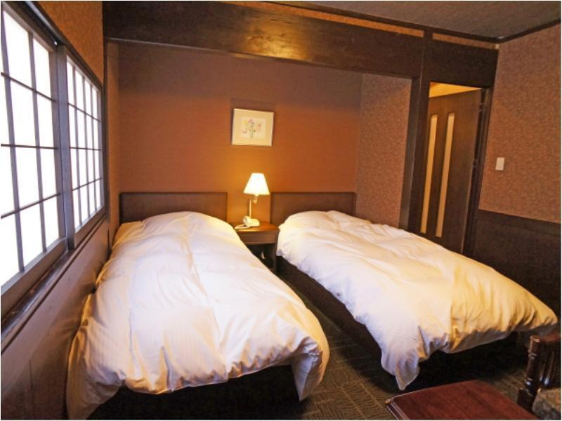 Japanese/Western-style Twin Room (8-tatami Japanese-style Room + 8-tatami Western-style Room, 120cm × 190cm Beds)
