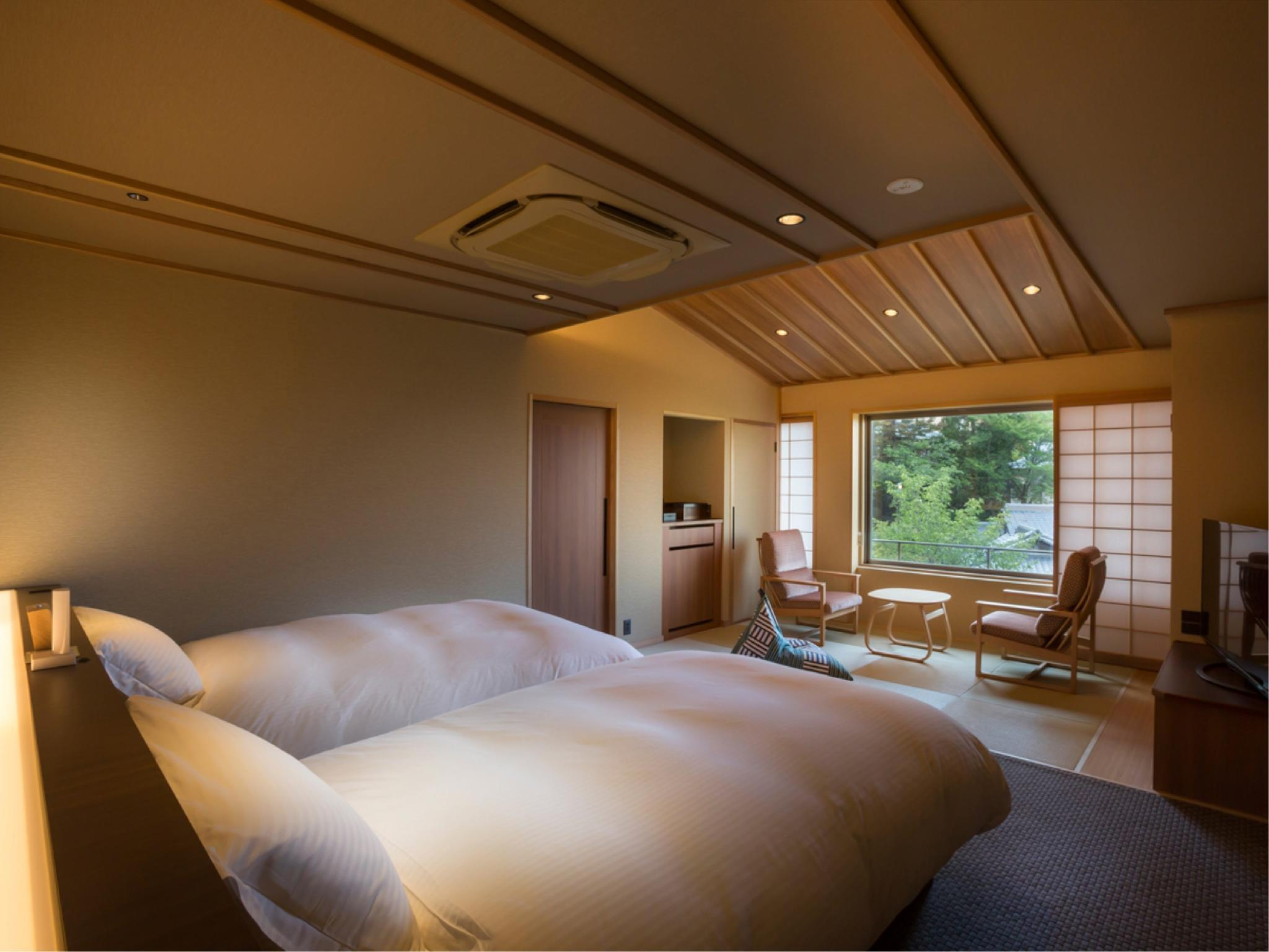 Japanese/Western-style Room with Open-air Bath (Type B, Sansuikaku Type, Annex Wing) *New guestroom