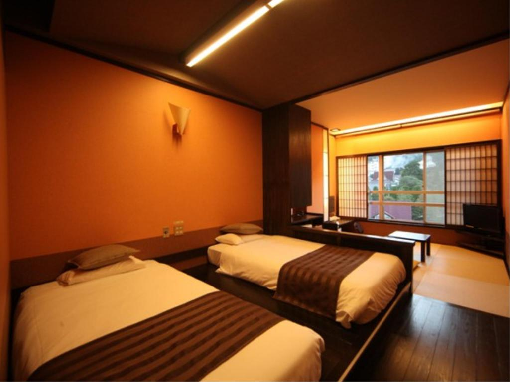Stylish Modern Folk Japanese/Western-style Twin Room (2 Beds) - ห้องพัก