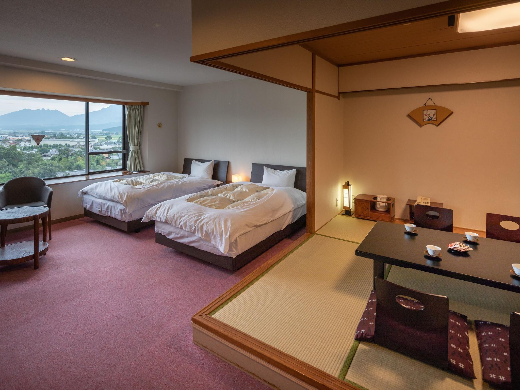 다다미 침대 객실(1번관 WADAYA/다다미 객실+트윈베드) (Japanese/Western-style Room (Japanese-style Room + Twin Bed, Wadaya Type, Ichibankan Building))