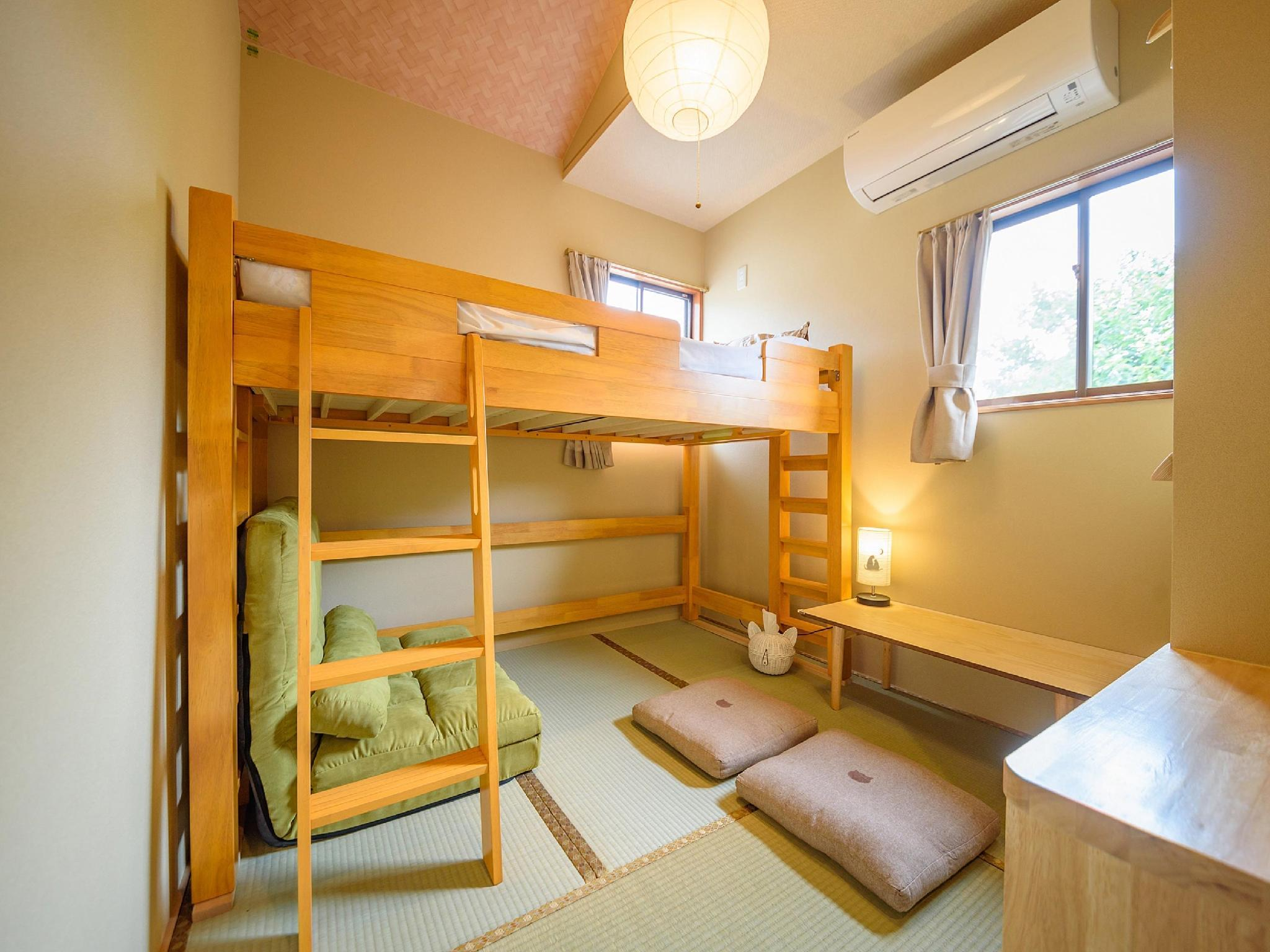 Japanese-style Room with Loft Bed *Has toilet + washroom