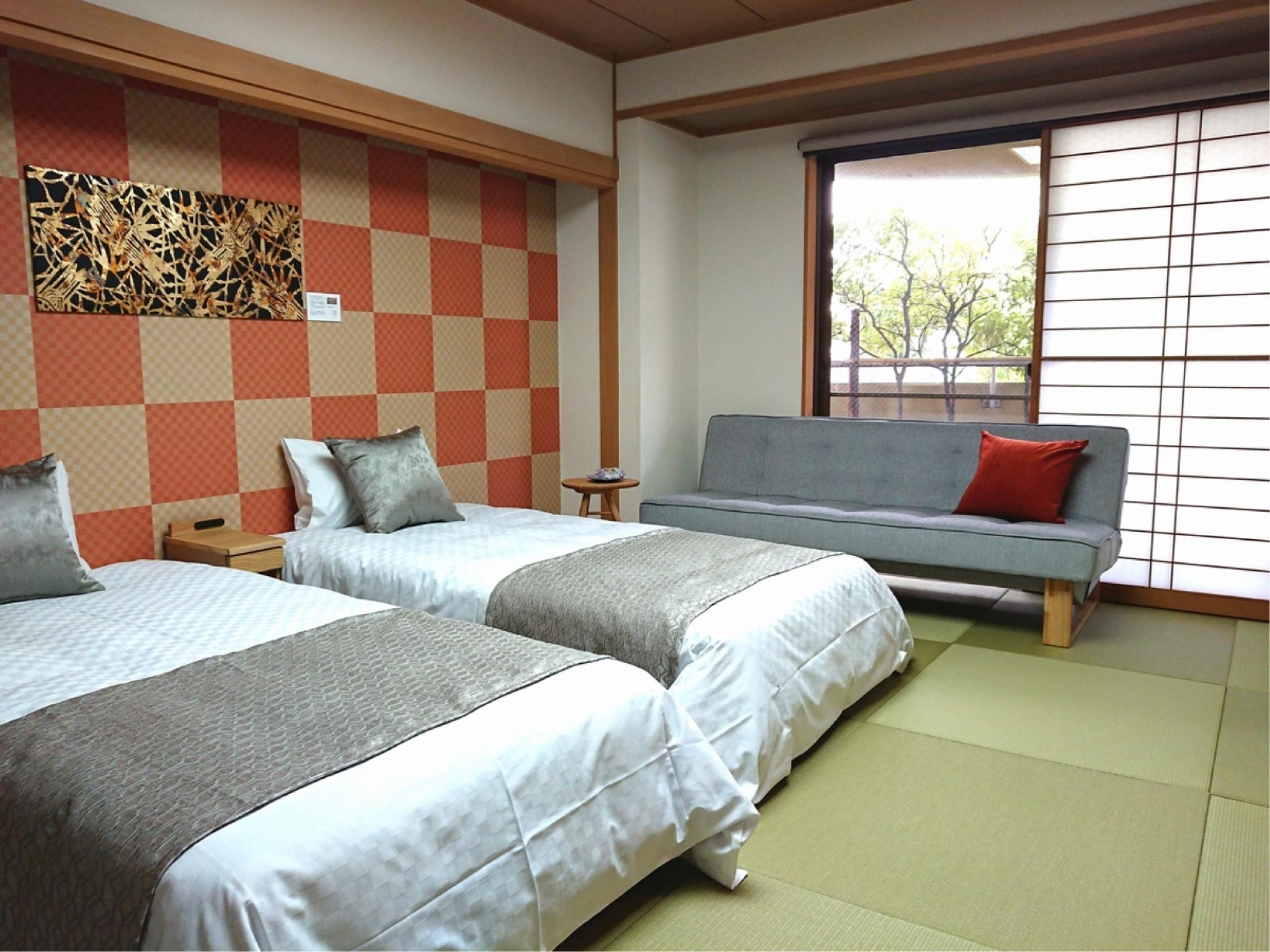 和室ベッド (Japanese-style Room (2 Beds))