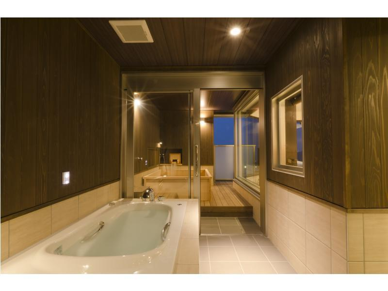 本館 露天風呂付デラックス和洋室 2ベッド 禁煙  (Deluxe Japanese/Western-style Room with Open-air Bath (2 Beds, Main Building))