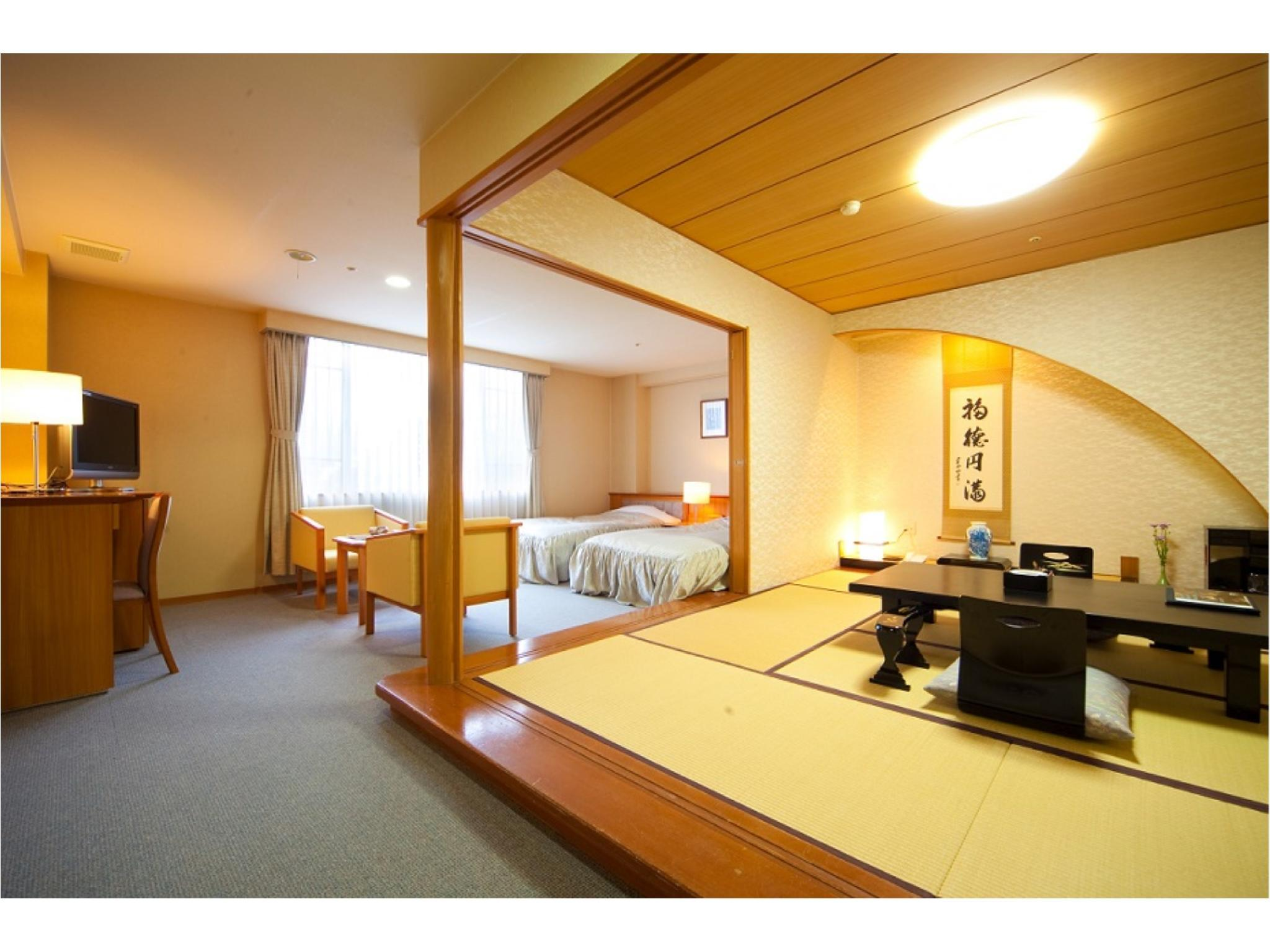 和洋式房 (2020年4月1日起禁菸) (Japanese/Western-style Room (*Non-smoking from 2020/4/1))