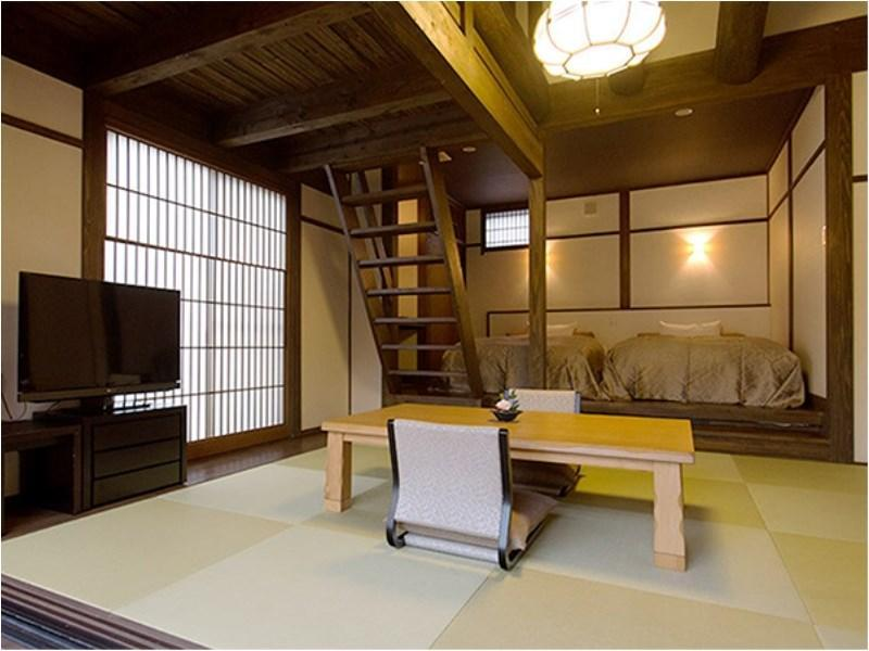 獨立和洋式房(和式房+寢室+觀景風呂) (Detached Japanese/Western-style Room with Scenic View Bath (Japanese-style Room + Bedroom))