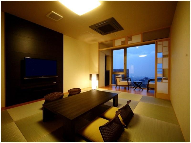 ◆月ノ想◆ジャパニーズモダン和室(50平米)[展望内湯] (Modern Japanese-style Room with Scenic View Indoor Bath (Tsukinoso Wing))