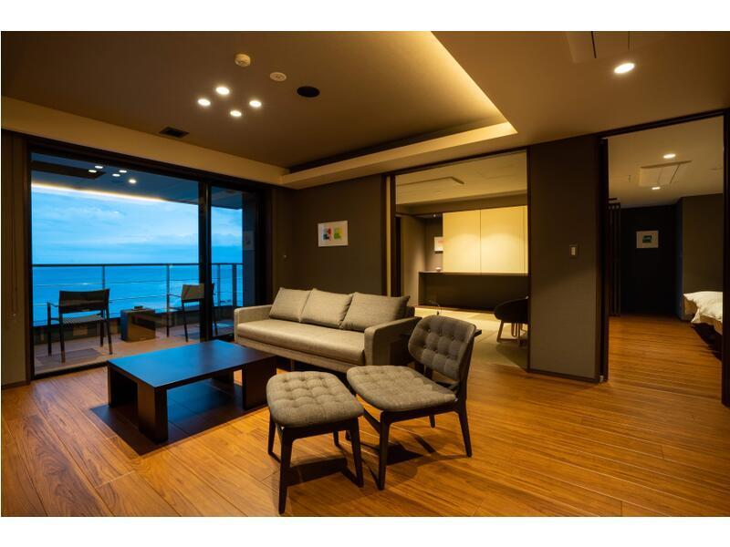 다다미 침대 객실(GAHAMA 타워/2베드/반노천탕) (Japanese/Western-style Room with Semi Open-air Bath (Gahama Tower))