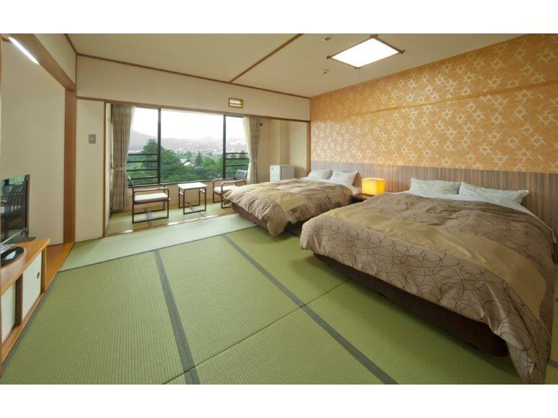 和洋式房(2張床) (Japanese/Western-style Room (2 Beds))