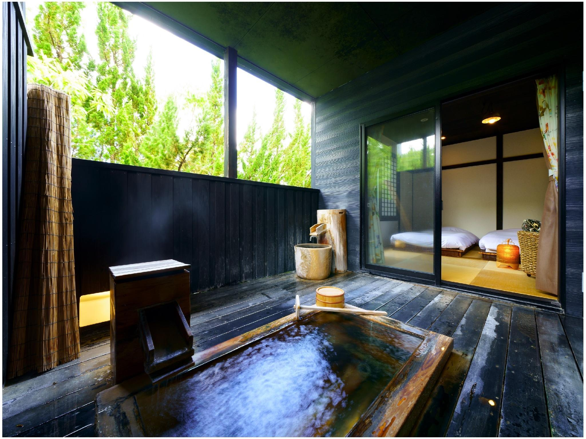 獨立房(和式房+2張床+露天風呂) (Detached Japanese-style Room with Open-air Bath (Twin Beds))
