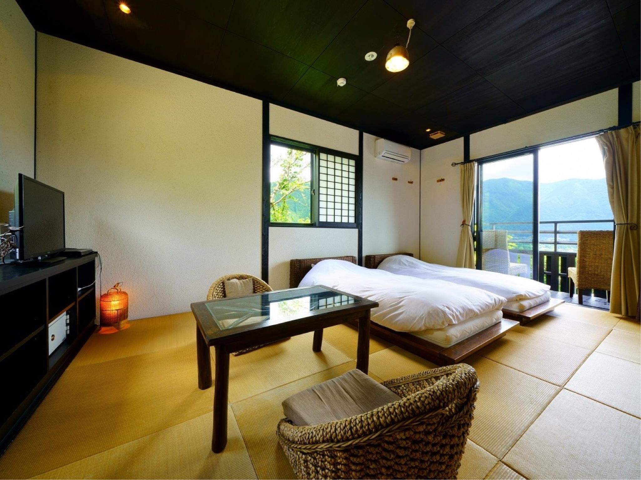獨立房(和洋式房+2張床+室內風呂) (Detached Japanese/Western-style Room with Indoor Bath (Twin Beds))