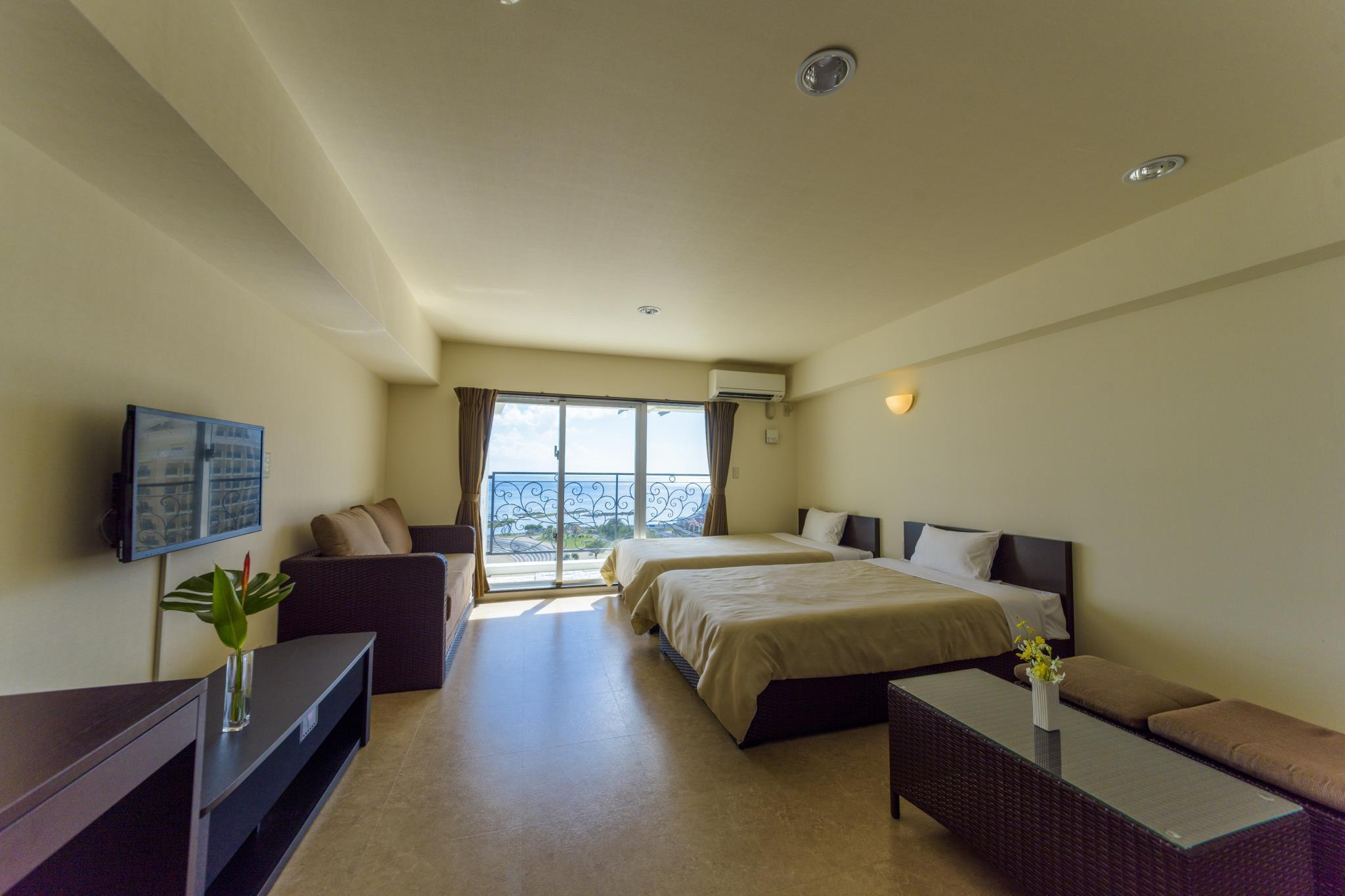 海景豪華房(兩床) (Deluxe Twin Bed Sea View)