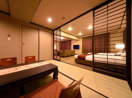 Superior Suite Room with Tatami Area - Ocean View - Room plan Royal Hotel MINAMI HOKKAIDO SHIKABE
