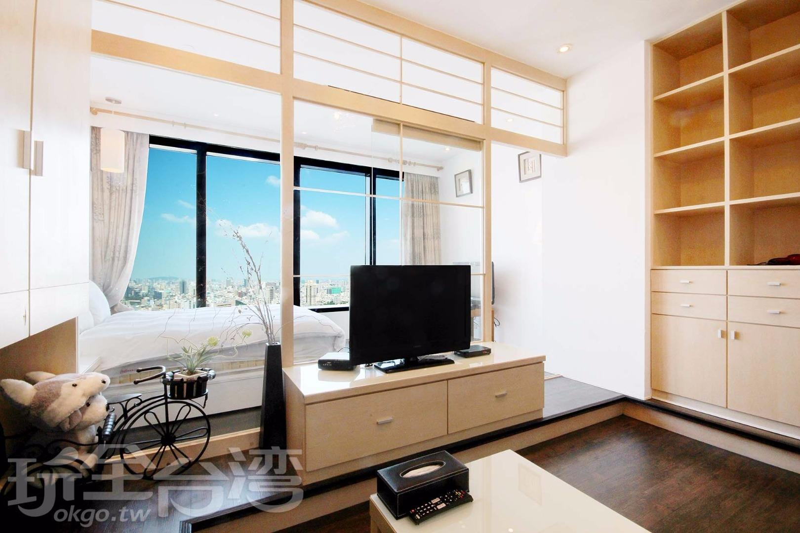 市景雙人房 (Double Room with City View)