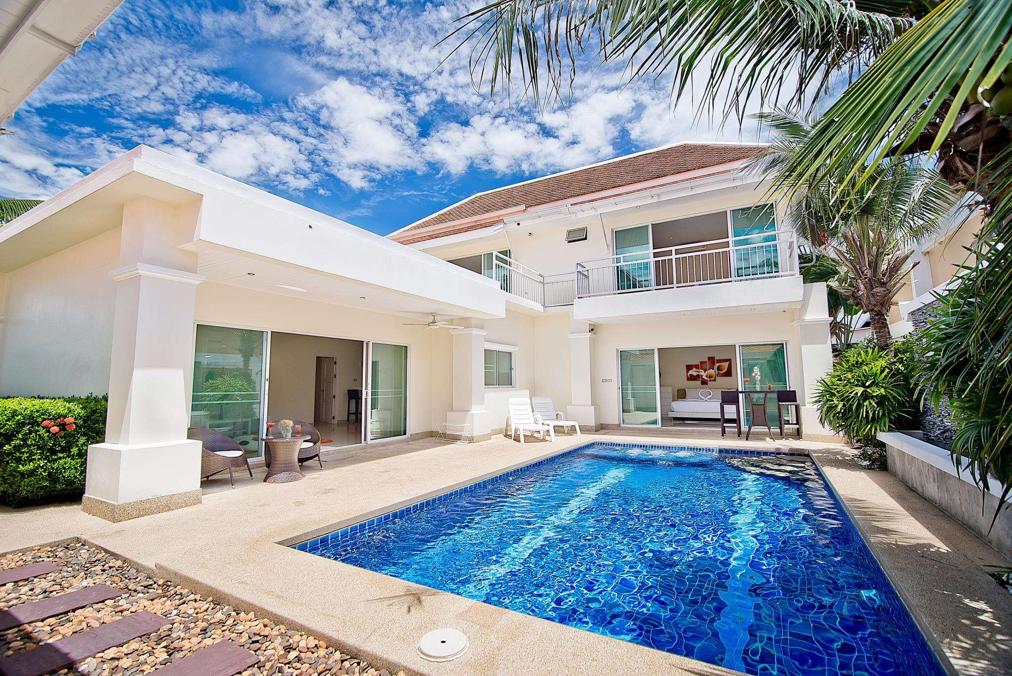 Willa z 4 sypialniami i prywatnym basenem – Na Jomtien 1 (4-Bedroom Villa Na Jomtien 1 with Private Pool)