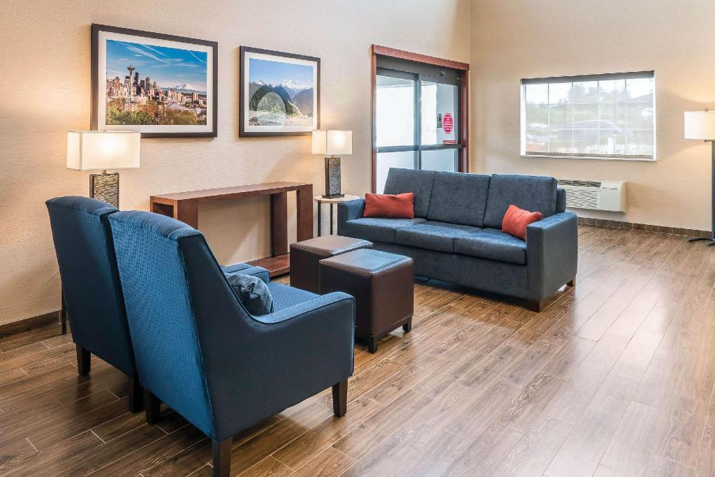 Lobby Comfort Inn Tacoma - Seattle