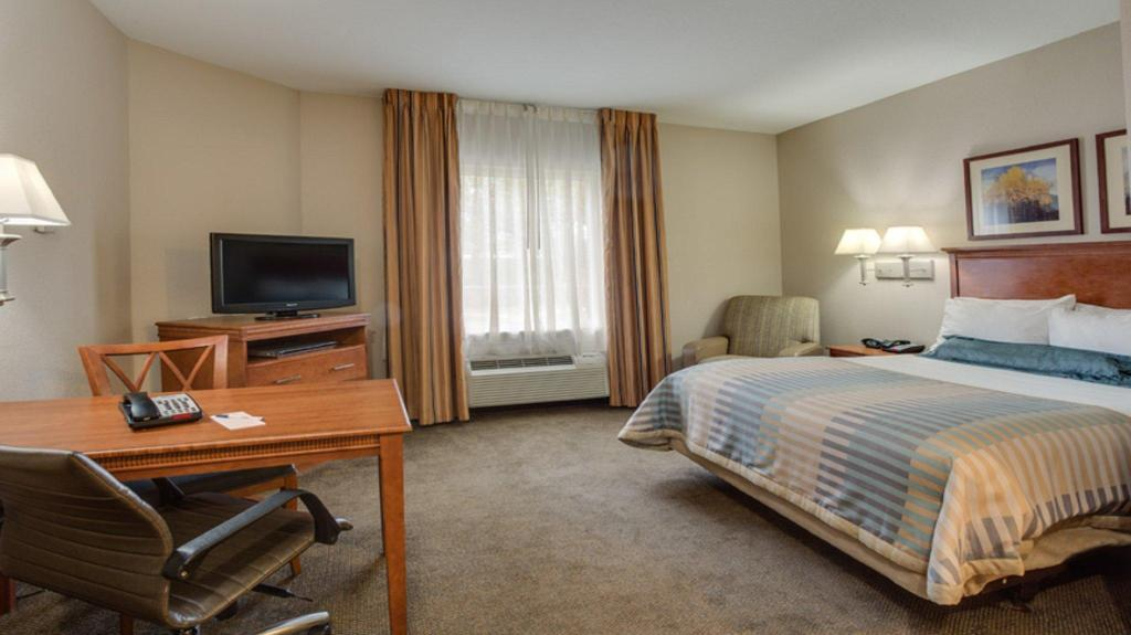 1 Queen Bed Studio Suite Non-Smoking - Guestroom Candlewood Suites Fort Lauderdale Airport-Cruise