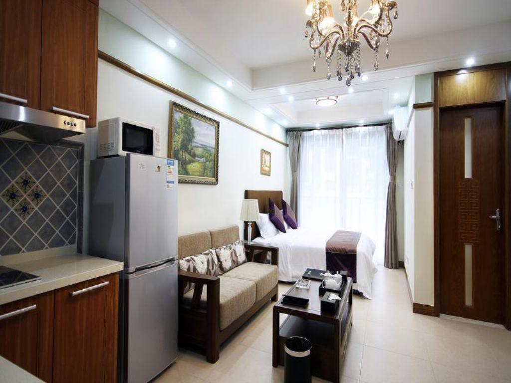 Boutique mit Kingsize-Bett - Zimmeransicht Sky Resort Hotel Qingcheng Mountain