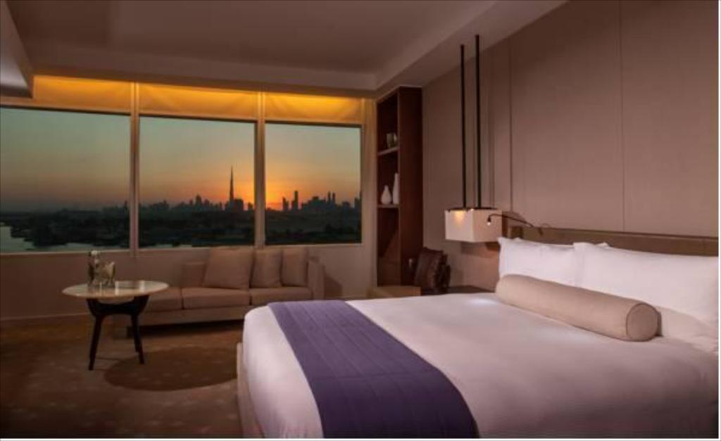 Burj Khalifa View King Room - Room plan InterContinental Dubai Festival City