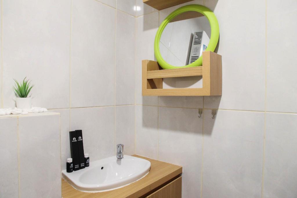 Apartemen studio 24 m² dengan 1 kamar mandi pribadi di ...