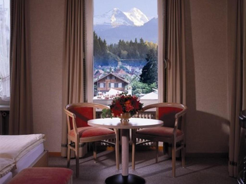 Single Standard - View from inside Hotel Beausite Interlaken