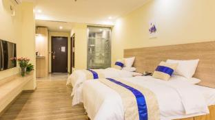 Deluxe twin-bed room-24H free shuttle & breakfast