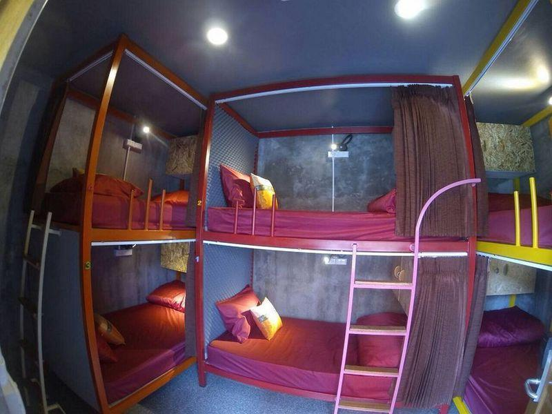 Bed in dormitory BUNK BED